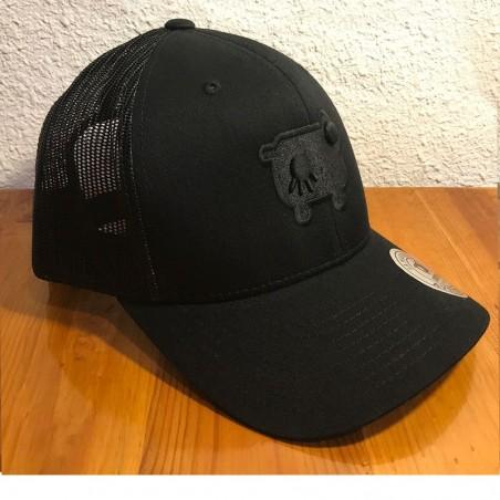 Casquette noire Avéron - broderie noire