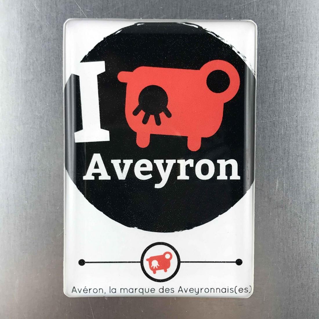 Aimant frigo I love Aveyron
