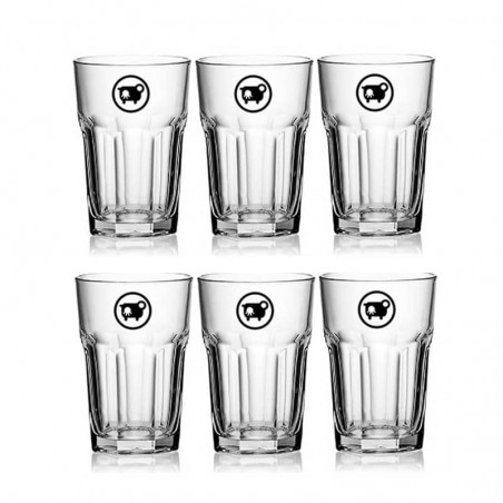 6 verres à sirop