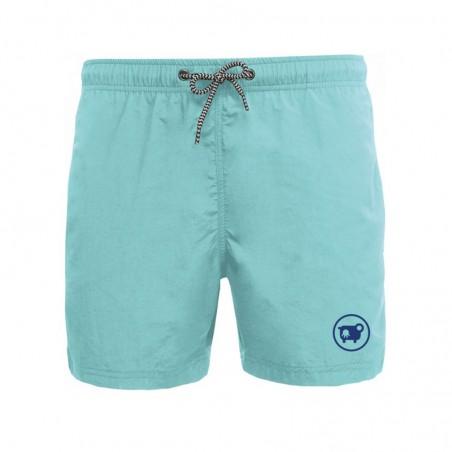 Short de bain bleu