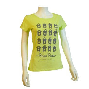 Tee-Shirt Brise-Pieds jaune clair