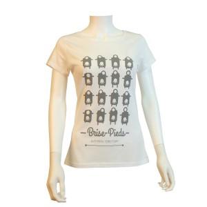 Tee-Shirt Brise-Pieds blanc