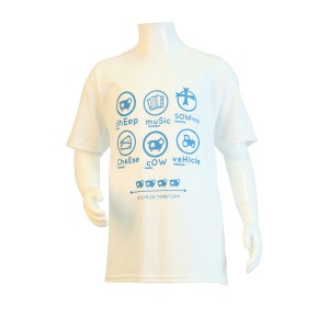Tee-Shirt Pastille Blanc