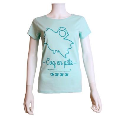 84045ea5c1aef Tee-Shirt femme Coq en pâte - Averon La marque des Aveyronnais