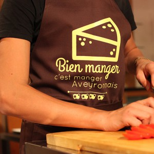 Tablier Bien mangé marron