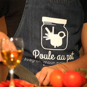 Tablier Poule au Pot denim