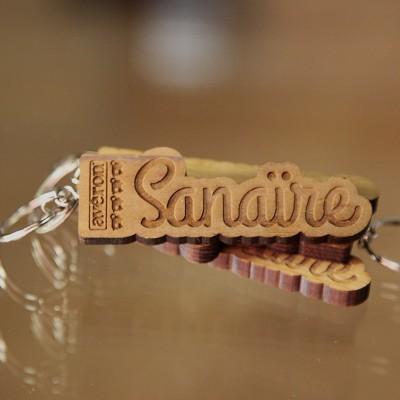 Le porte-clefs en bois Avéron Sanaïre