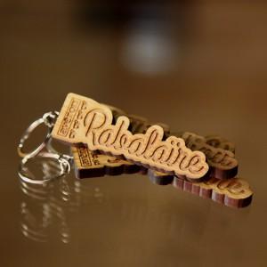 Le porte-clefs en bois Avéron Rabalaïre