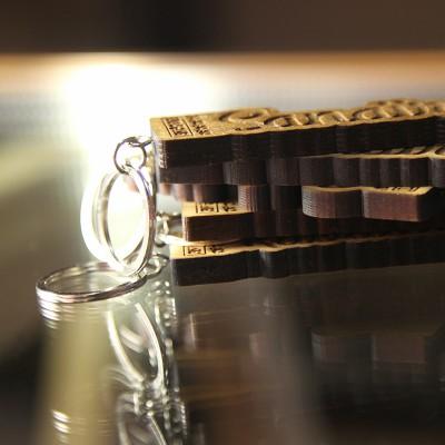 Le porte-clefs en bois Avéron MILADIOU - 100% Français