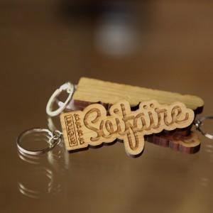 Le porte-clefs en bois Avéron Soifaïre