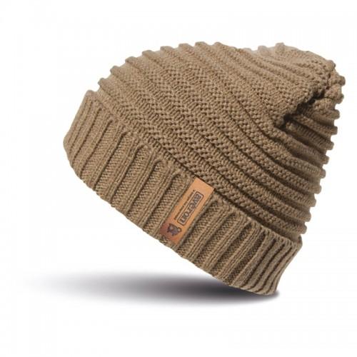 Bonnet tressé avec étiquette en cuir - Avéron, la marque des Aveyronnais