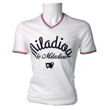 Polo Miladiou homme blanc - Produit d'Aveyron