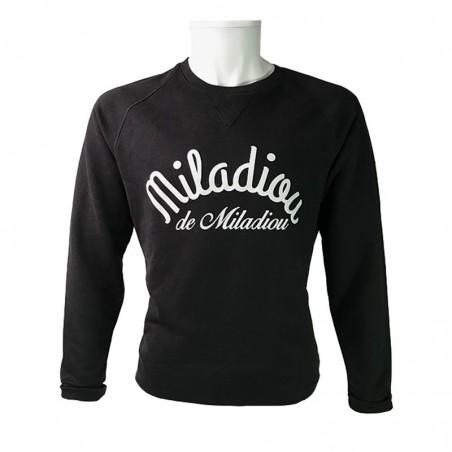 Sweat noir Miladiou - pour les Aveyronnais(es)