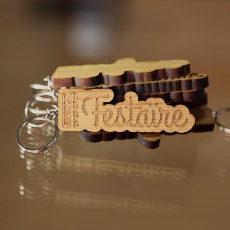 Le porte-clefs en bois Avéron Festaïre