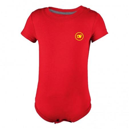 Body bébé rouge - Mouva d'Aveyron jaune