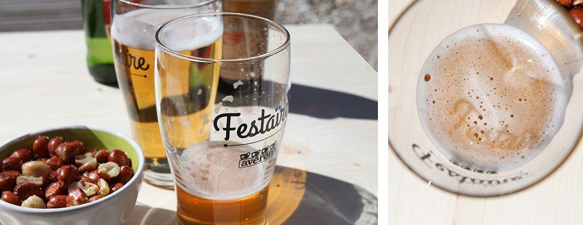 verres à bière Aveyronnais